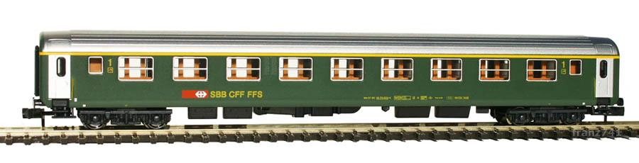Kato-Hobbytrain-23111-Personenwagen-SBB_1Klasse