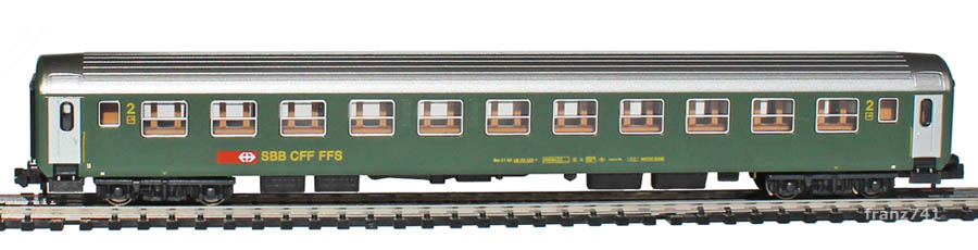 Kato-Hobbytrain-23112-Personenwagen-SBB_2Klasse-neues-Logo