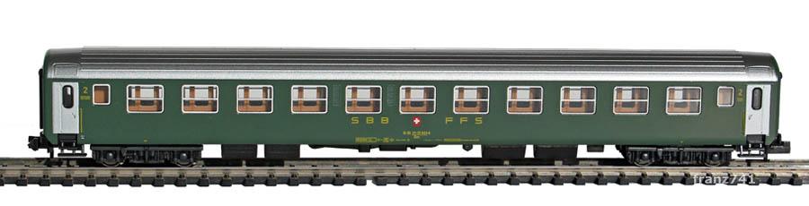 Kato-Hobbytrain-23115-Personenwagen-SBB_2Klasse-altes-Logo