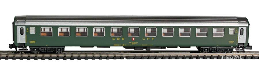 Kato-Hobbytrain-23206-Liegewagen-SBB_2Klasse-altes-Logo