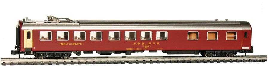 Kato-Hobbytrain-23301-Speisewagen-SBB