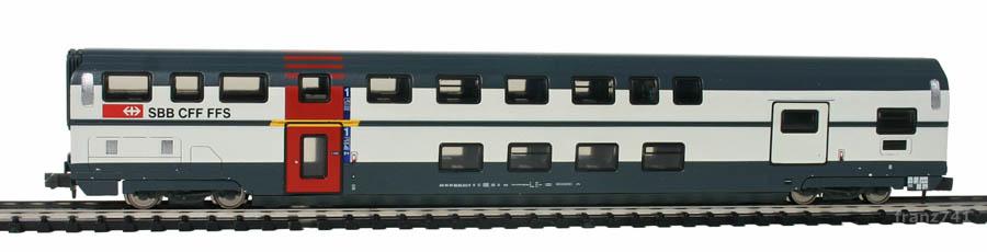 Kato-Hobbytrain-25103-DoSto-Personenwagen-SBB-1Klasse-mitGepaeckabteil