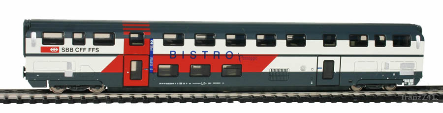 Kato-Hobbytrain-25105-DoSto-Personenwagen-SBB-2Klasse-Bistro