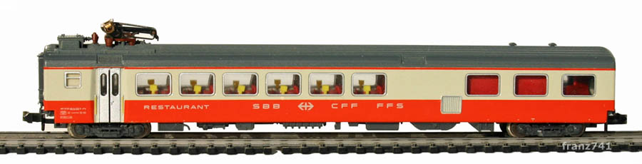 Minitrix-11031-4-SwissExpress-Speisewagen-SBB