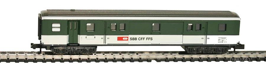 Minitrix-13363-Gepaeckwagen-SBB