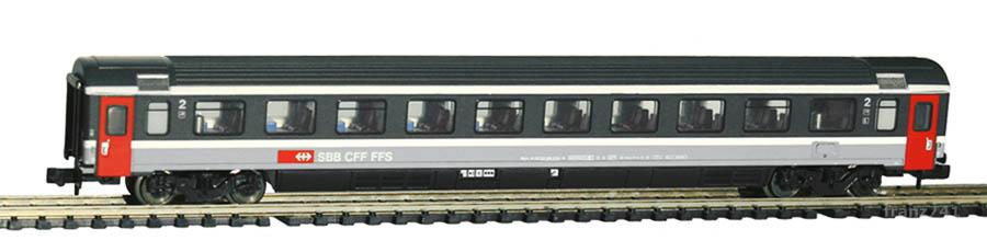 Minitrix-13366-Personenwagen-SBB-2Klasse