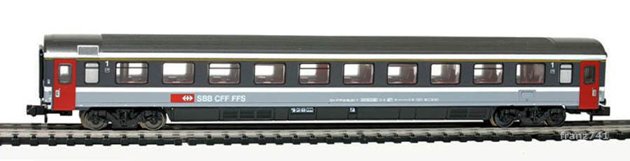 Minitrix-Set-13071-2-Personenwagen-SBB-1Klasse
