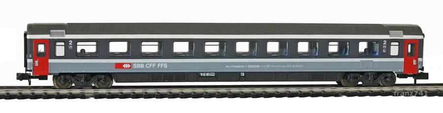 Minitrix-Set-13071-4-Personenwagen-SBB-2Klasse
