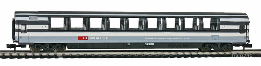 Minitrix-Set-71460-Panoramawagen-SBB-1Klasse