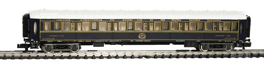 Rivarossi-9554-Pullman-Schlafwagen-3532A-blau-weiss