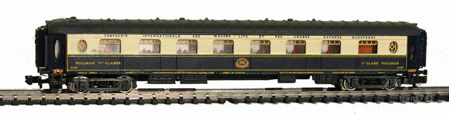 Rivarossi-9592-Pullman-Salonwagen-4029-blau-beige-grau
