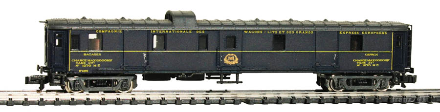 Rivarossi-9593-Pullman-Gepaeckwagen-1270-blau-grau