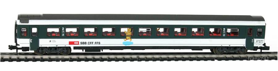 Roco-21027-4-EW-IV-Personenwagen-SBB-2Klasse-Teddybaer