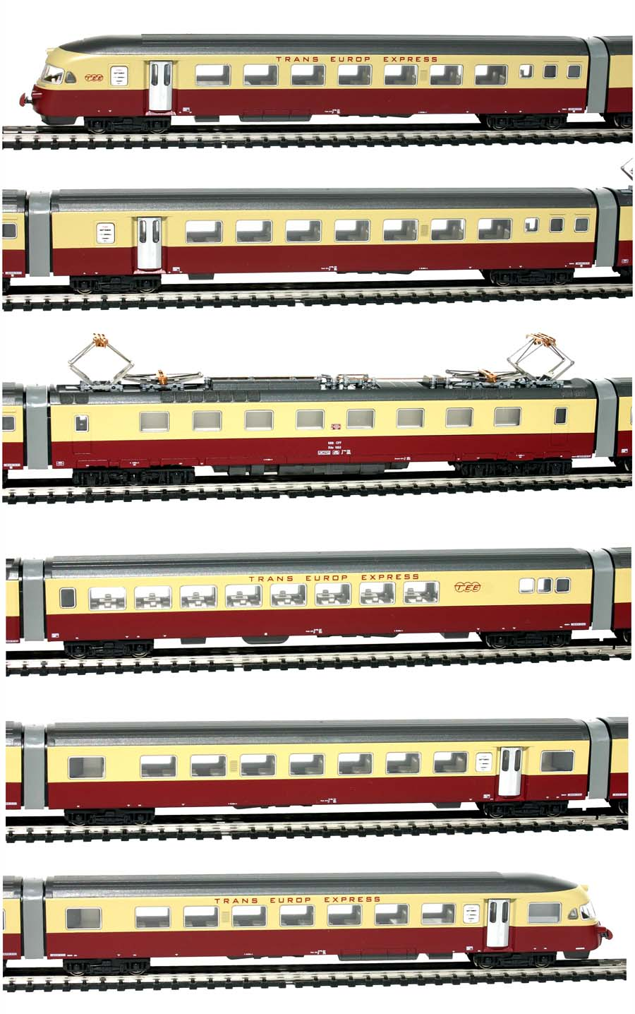 Hobbytrain-11400-RAe-II-1053-Triebwagenzug-TEE-SBB