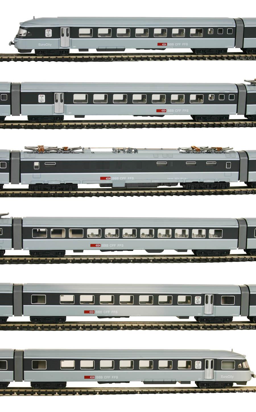 Hobbytrain-11405-RABe-1055-EC-Triebwagenzug-Graue-Maus-SBB