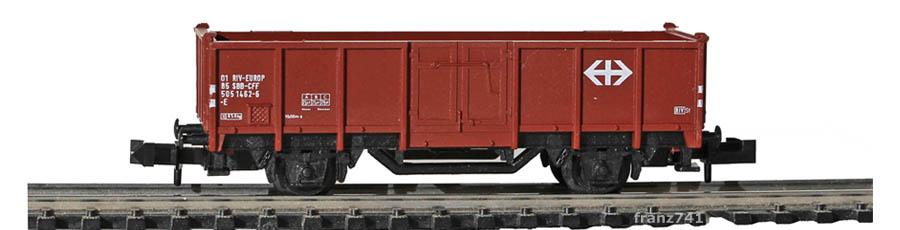 verk2-Minitrix-13585-Hochbordwagen-SBB-braun