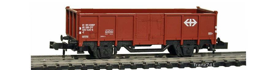 verk3-Minitrix-13585-Hochbordwagen-SBB-braun