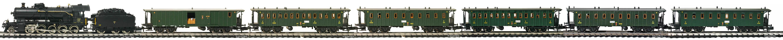 Epoche-I-SBB-Personenzug_Elefant-Dampflok-amerikaner-Wagen