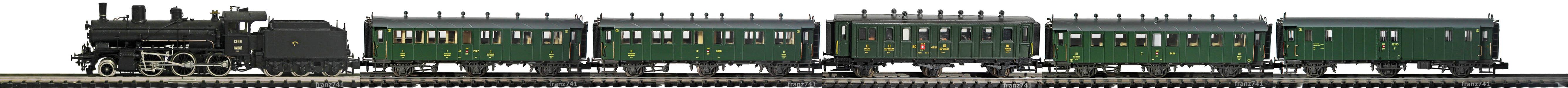 Epoche-II-SBB-Zugskomposition-dreiachs-Personenwagen-geschlossene-Plattform
