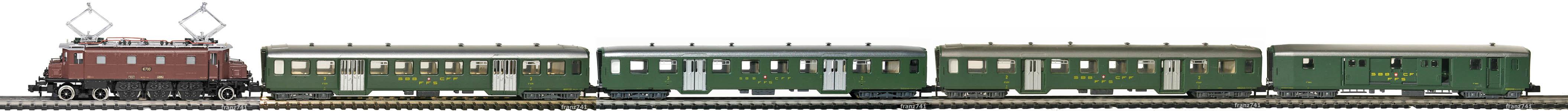 Epoche-III-SBB-Personenzug_Ae-3-6-I-Elok-Leichtstahlwagen-Urspungsausführung