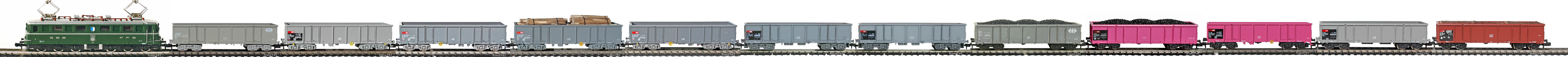 Epoche-IV-SBB-Eaos-Gueterzug_Ae-6-6-Elok-Eaos-Eanos-Hochbordwagen