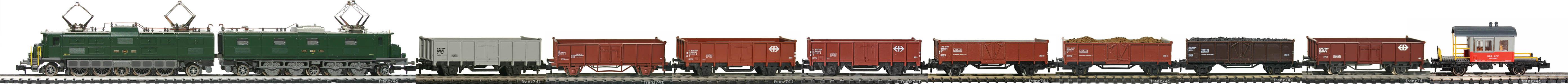 Epoche-IV-SBB-Hochbordwagen-Gueterzug_Ae-8-14-Elok-Gueterwagen-Typ-E