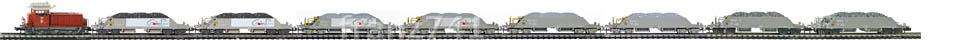Epoche-IV-SBB-Neuschotter-Gueterzug_Em-3-3-Diesellok-Schotterwagen-Typ-Xas_klein