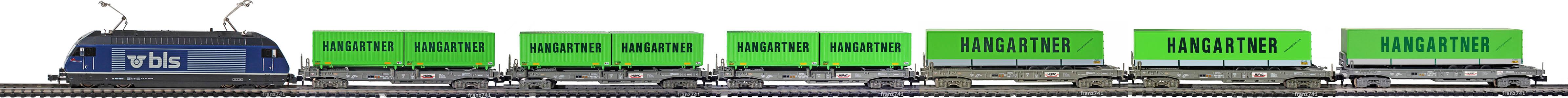 Epoche-V-SBB-BLS-Zugskomposition-HUPAC-Hangartner-Taschenwagen-Gueterzug-Typ-Sdgmss