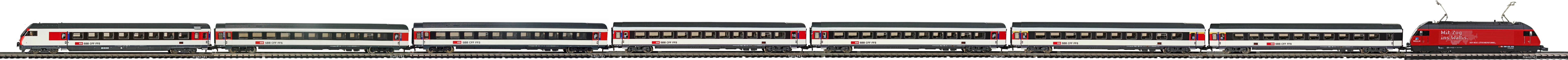 Epoche-V-SBB-EW-IV-Personenzug-Re-460-EW-IV-Wagen-IC-New-Look-FLM