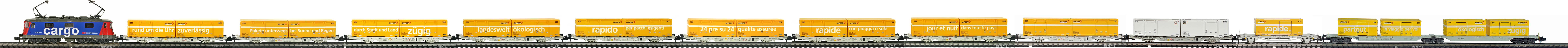 Epoche-V-SBB-Post-Container-Gueterzug_Re-421-Elok-Postwagen-Typ-Lgnss-Sdggmrs